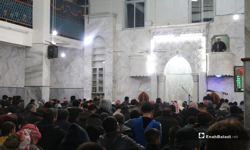 Friday prayer from the Omar Ibn al-Khattab Mosque in the al-Bab city - 10 January 2020 (Enab Baladi)
