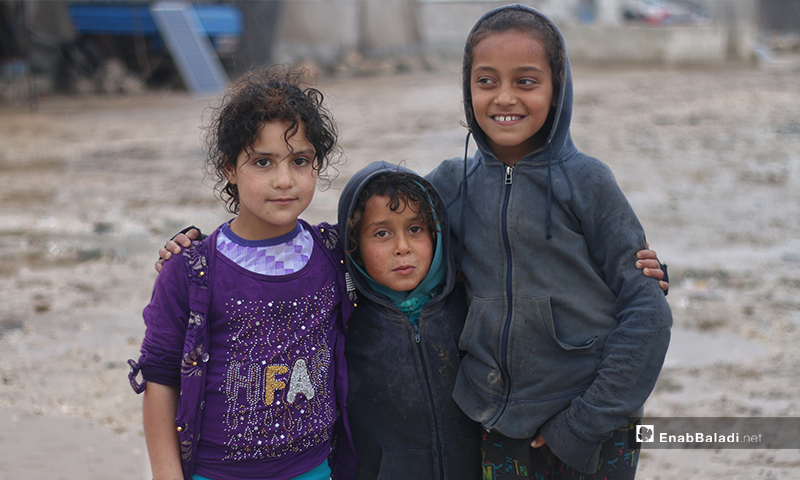 Children from Aleppo Labeeh camp on their first day of Ramadan – 24 April 2020 (Enab Baladi)
