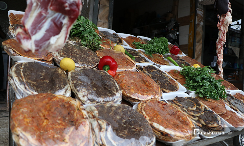 Meat and pastry shop in al-Bab city in rural Aleppo – 24 April 2020 (Enab Baladi)