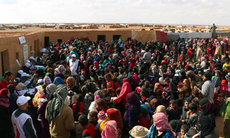 Displaced people of al-Rukban camp (Syrian Red Crescent)