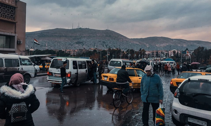 Syrian citizens in al-Baramkeh area, center of Damascus - 19 February 2020 (Lens young Dimashqi's Facebook page)