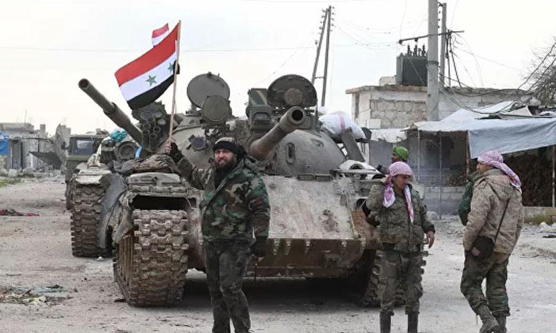 Syrian regime's forces in western rural Aleppo - 11 February 2020 (RIA Novosti)