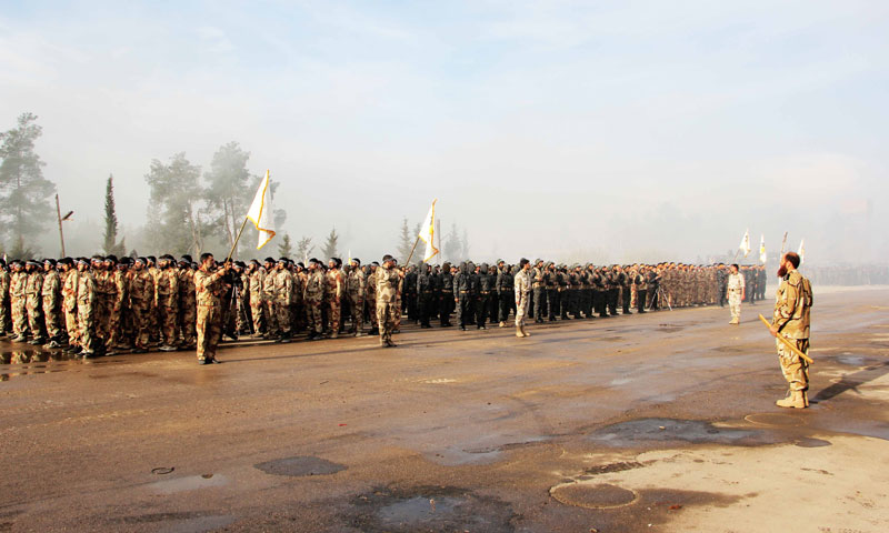 A military parade for the Army of Islam in the Eastern Ghouta region (the official website for the Army of Islam)