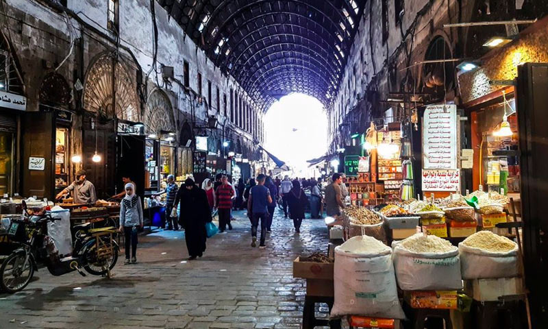 Al-Bzuriah market in old Damascus - 20 June 2019 (Lens young Dimashqi Facebook page)