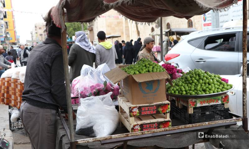 A tour at the al-Bab city's street markets before the call to the sunset prayer in Ramadan  - 04 May 2020 (Enab Baladi)