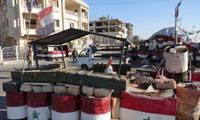 Syrian-regime controlled checkpoint- 2018 (AP)