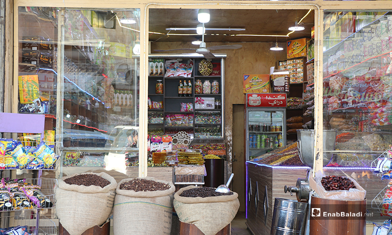 A grocery store in the city of Azaz in Aleppo Countryside - 30 April (Enab Baladi)