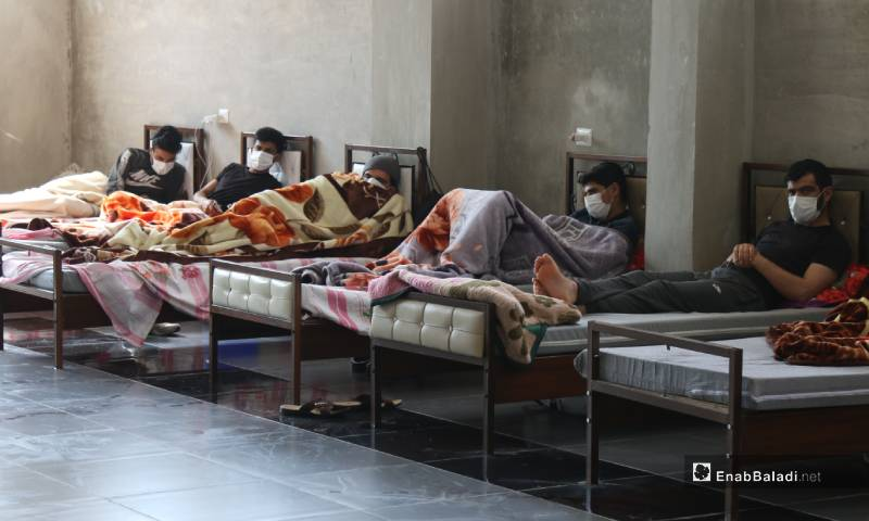 Quarantined people at the ministry of health's isolation center affiliated to the Syrian Salvation Government (SSG) – 04 May 2020 (Enab Baladi)