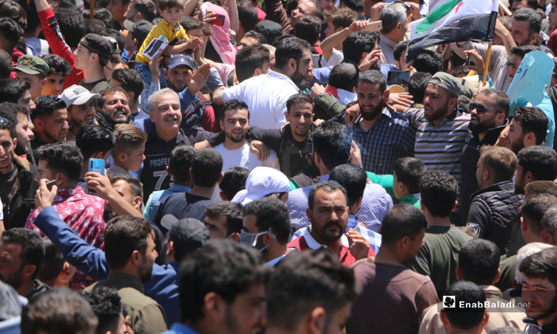 Syrian internally displaced people (IDPs), activists, and residents of Idlib