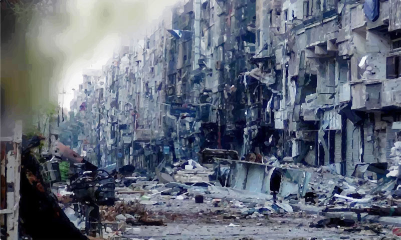 The Yarmouk Camp of Damascus governorate-2015 (Hadf News website)