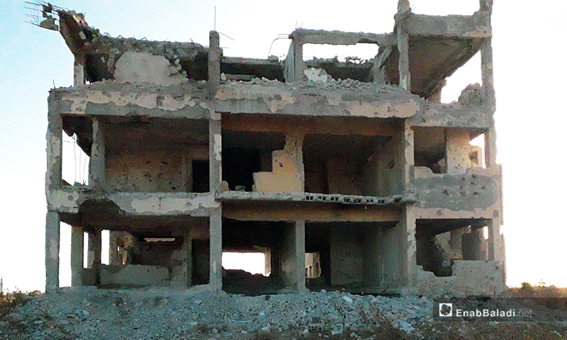 Images reveal the destruction of the Libyan Company east of al- Lujain town in Syria's Daraa – 11 June 2020 (Enab Baladi – Daraa province)