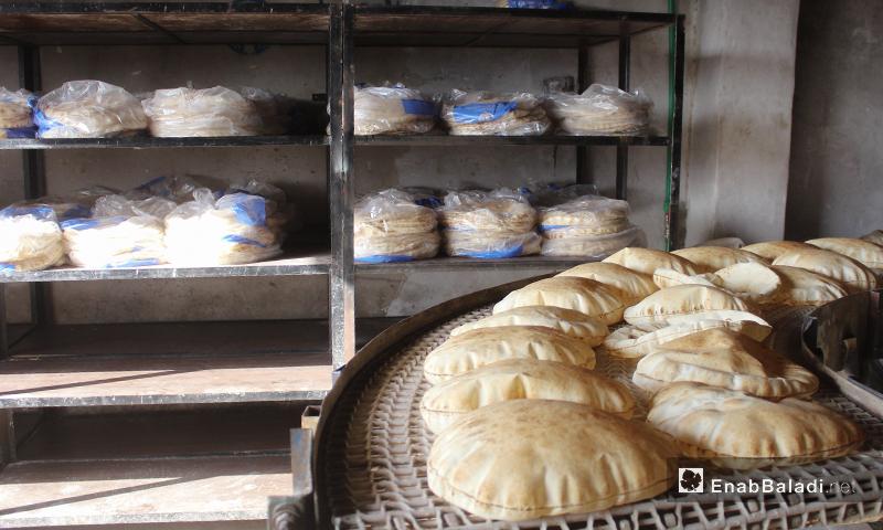 One of the bakeries of Kafr Aruq village in northern Idlib – 09 June 2020 (Enab Baladi – Iyad Abd al-Jawad)