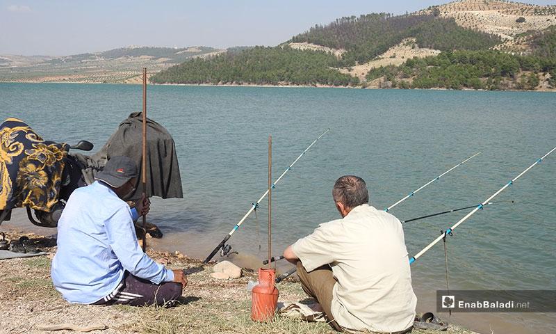 Fishing in Maydanki in Afrin, north of Aleppo - 11 June 2019 (Enab Baladi)
