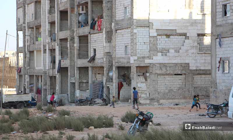 Syrian internally displaced people (IDPs) who live in housing buildings for young people in Idlib, threatened with deportation - 10 October 2019 (Enab Baladi)