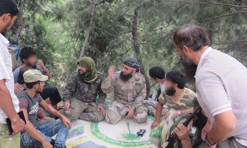 Both leaders Abu Malik al-Tali and Abu al-Fath al-Farghali on the northern fronts of Latakia countryside - (Tahrir al-Sham)