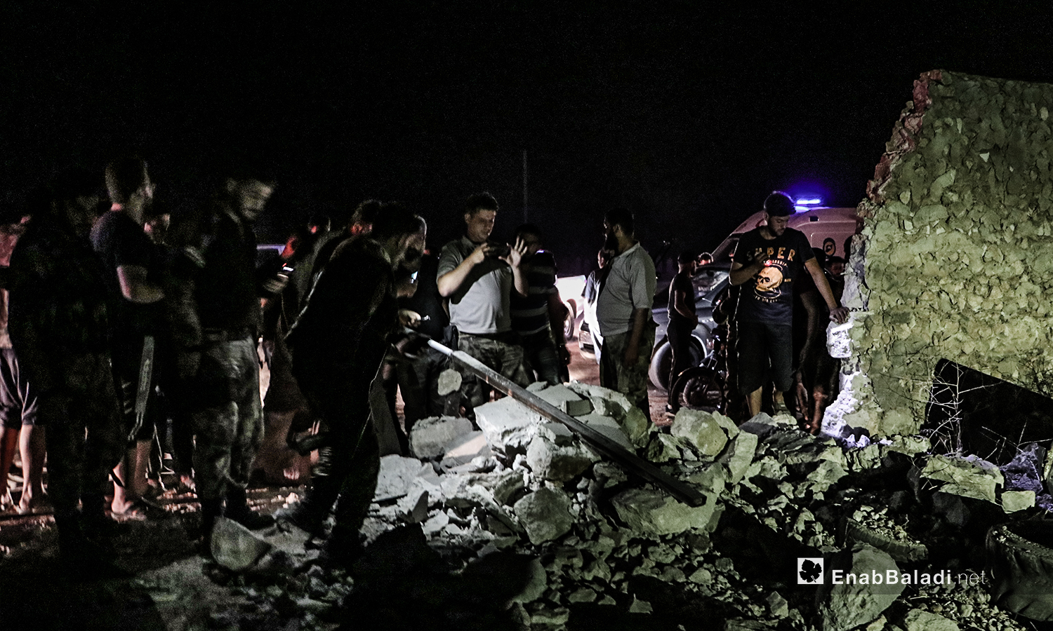 The explosion of an improvised explosive device (IED) in one of the agricultural lands on the outskirts of al-Bab city in the northeastern Aleppo countryside – 27 July 2020 (Enab Baladi / Asim Melhem)