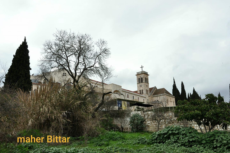 "The ""Latin"" Monastery and ""Saint Joseph"" Church in al- Qaniyah village in Idlib countryside (Maher Bitar's Facebook account)"
