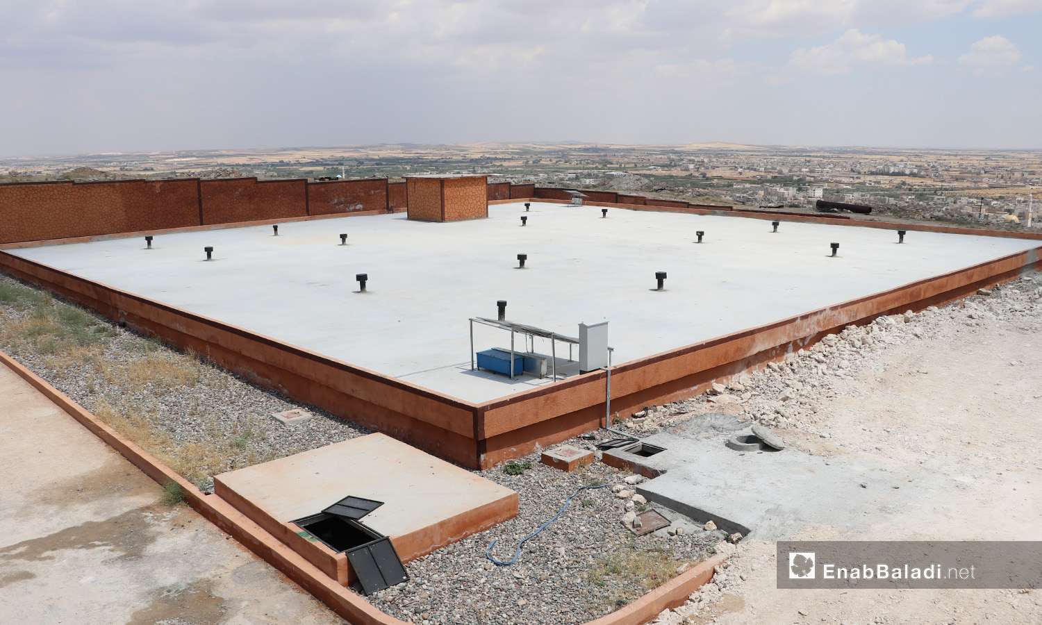 The main water tank of al-Bab city in northern Aleppo countryside – 20 June 2020 (Enab Baladi / Asim Melhem)