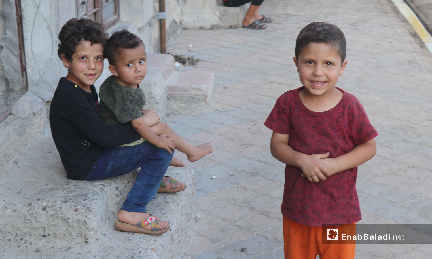 A group of children in al-Raqqa city – 26 July 2020 (Enab Baladi / Abdul Aziz Saleh)