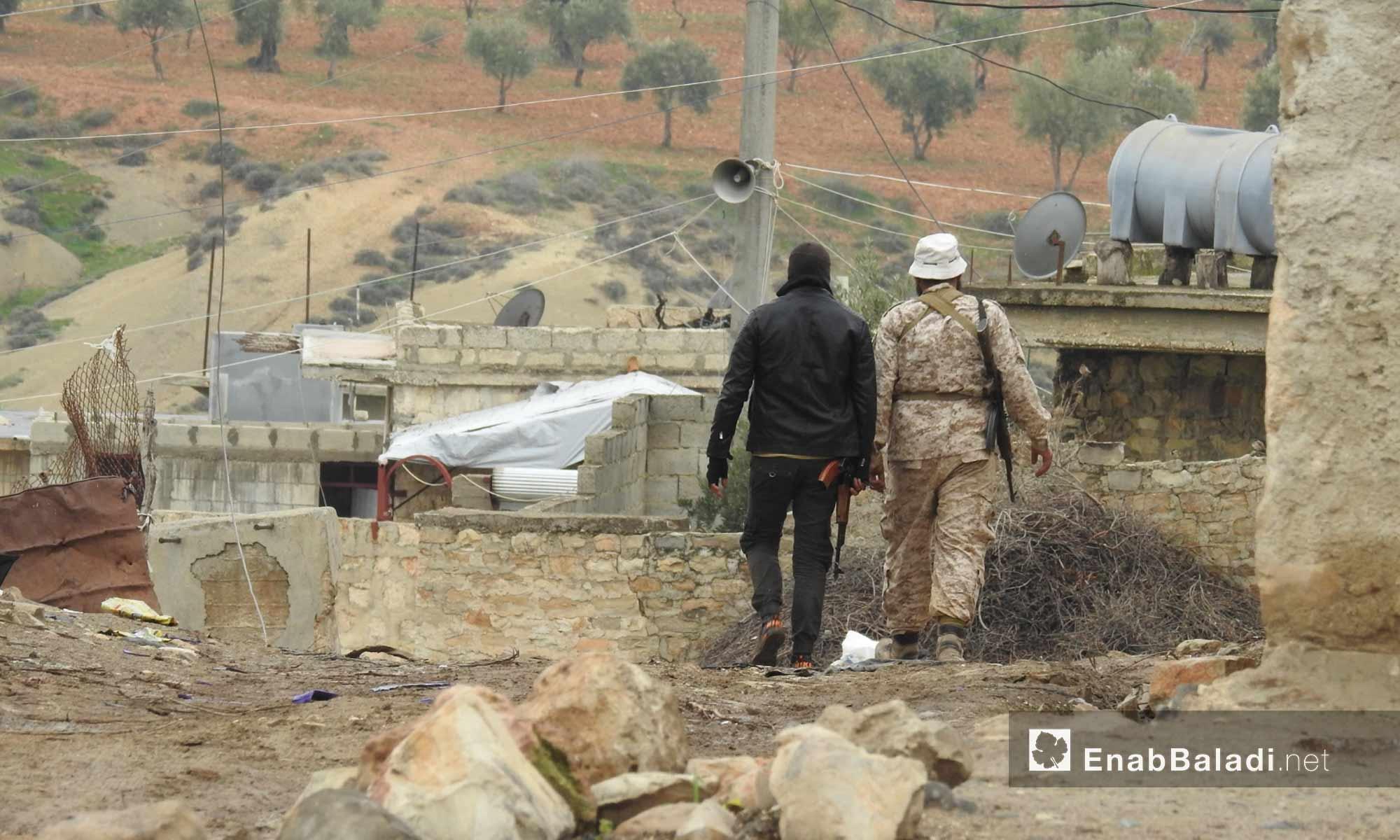 "Members of the ""Free Syrian Army (FSA) in Zaytonah village in Afrin countryside - 05 March 2018 (Enab Baladi)"