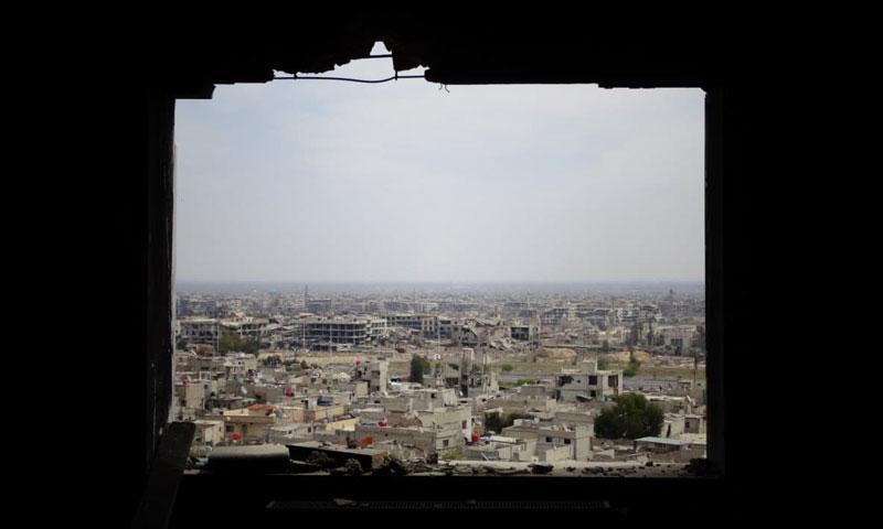 A top view of the al-Qaboun neighborhood east of the Syrian capital, Damascus-2017 (photographer Fadi al-Seyrafi)