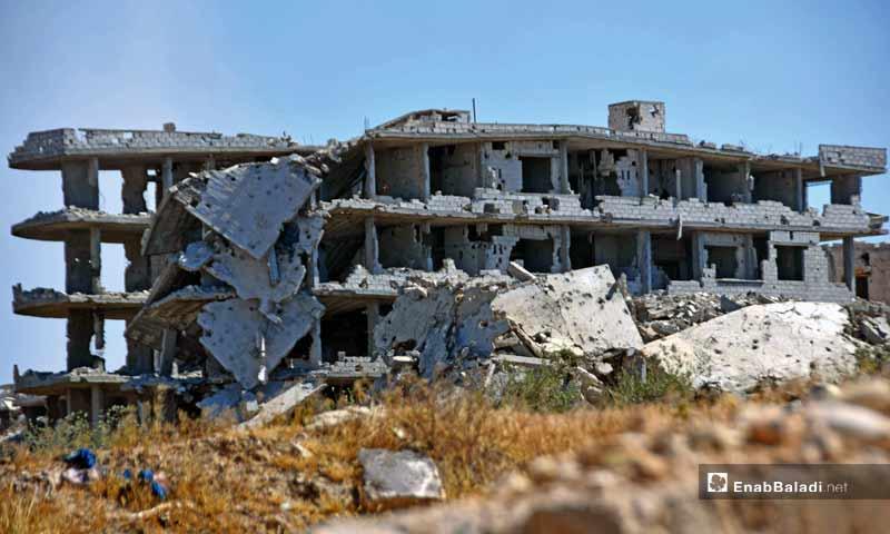The destruction of Jobar neighborhood in Damascus - 24 April 2015 (Enab Baladi)