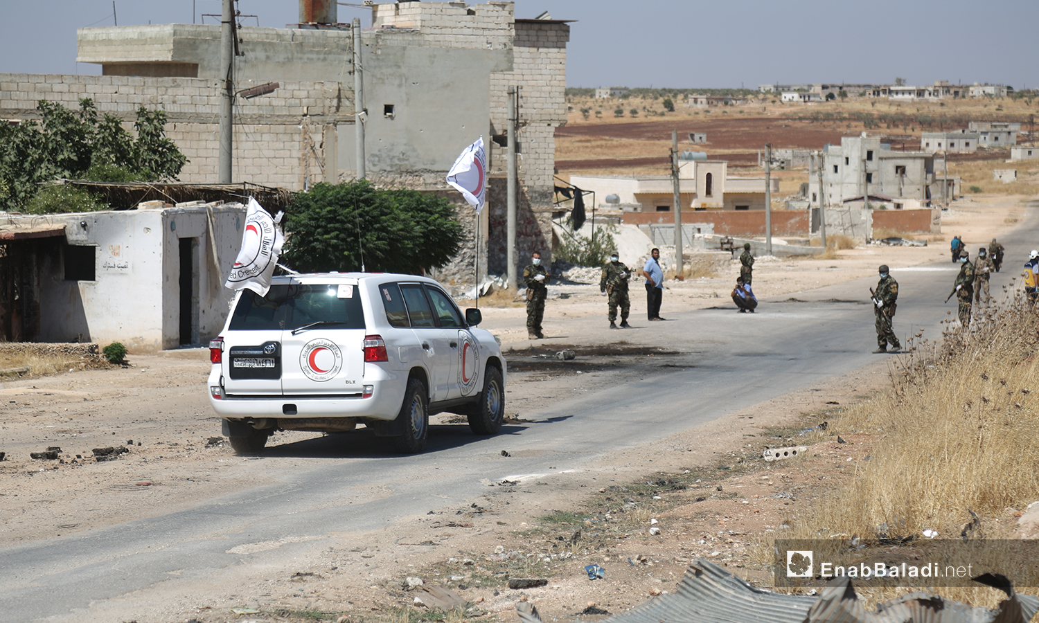 A prisoners' exchange operation between the Hay' at Tahrir al-Sham (HTS) and the Syrian regime – 12 August 2020 (Enab Baladi / Yousef Ghuraibi)