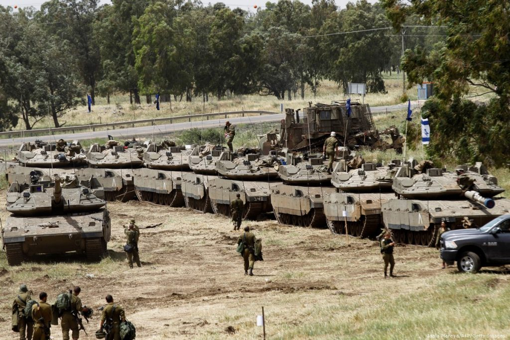 Israeli forces conduct maneuvers on the Syrian border in the occupied Golan - 7 July 2018 (gettyimage)