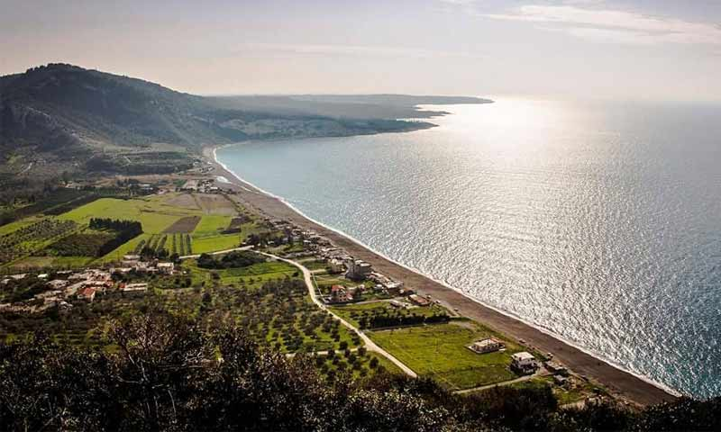 Wadi Qandil's beach in Latakia province (Syria's Photos Twitter account)