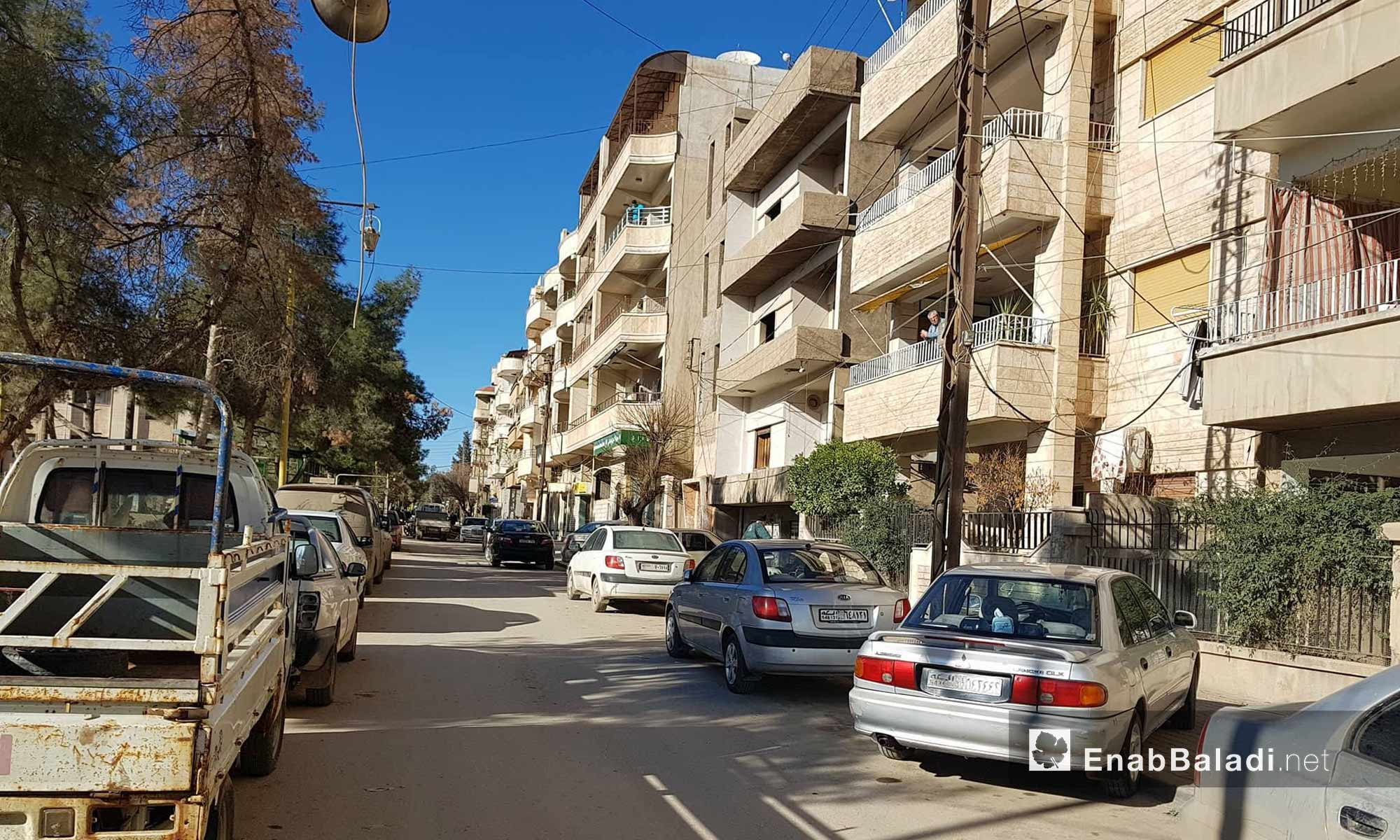 A neighborhood of the al-Qamishli city, the largest region of al-Hasakah province northern Syria - 30 January 2018 (Enab Baladi)