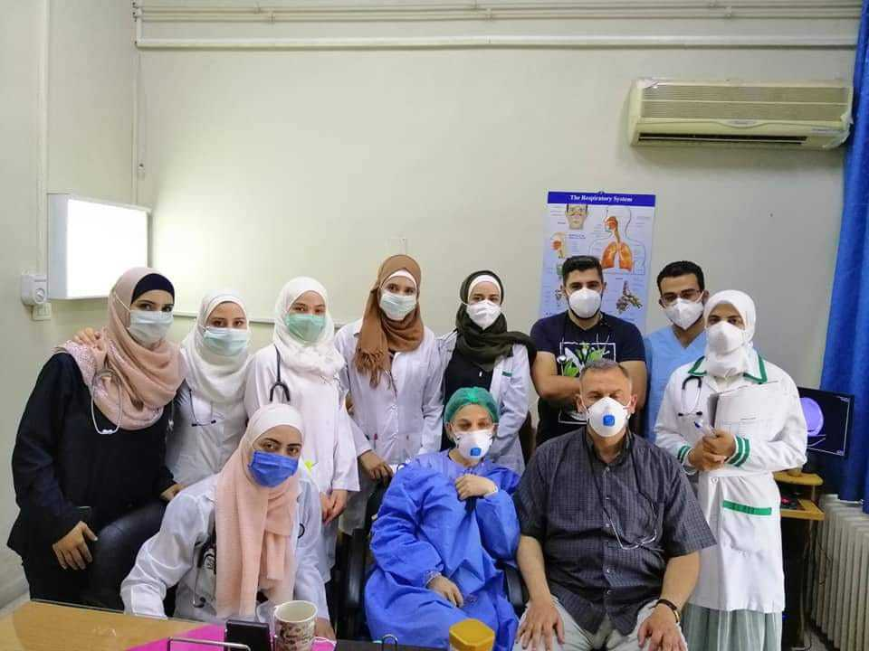 Doctors at Ibn al-Nafees Hospital in Damascus, 23 August 2020 (sama3t.hakeem)