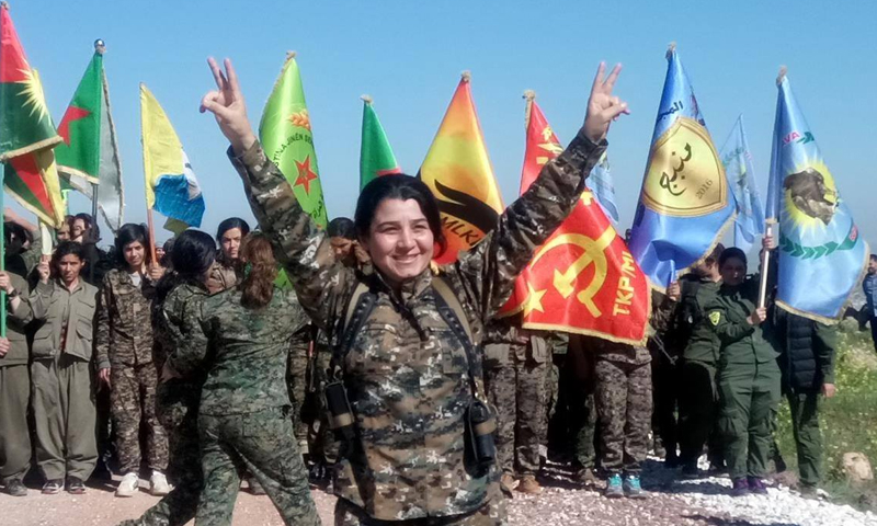Female fighters in the Syrian Democratic Forces (Office of Diplomatic Relations for Women's Protection Units)