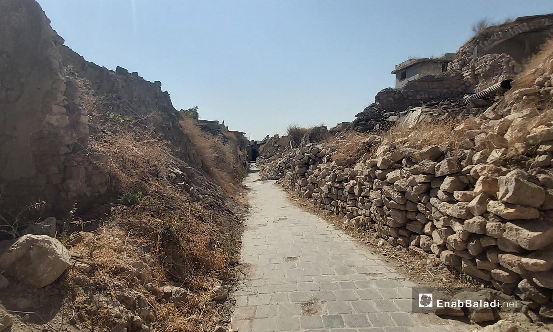 The destroyed part of the al-Saqatiyah souk in Aleppo city – 28 August 2020 (Enab Baladi / Orwah al-Mundhir)