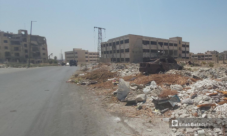 The destruction scenes in Salaheddine district in Aleppo city – 28 August 2020 (Enab Baladi / Aleppo)