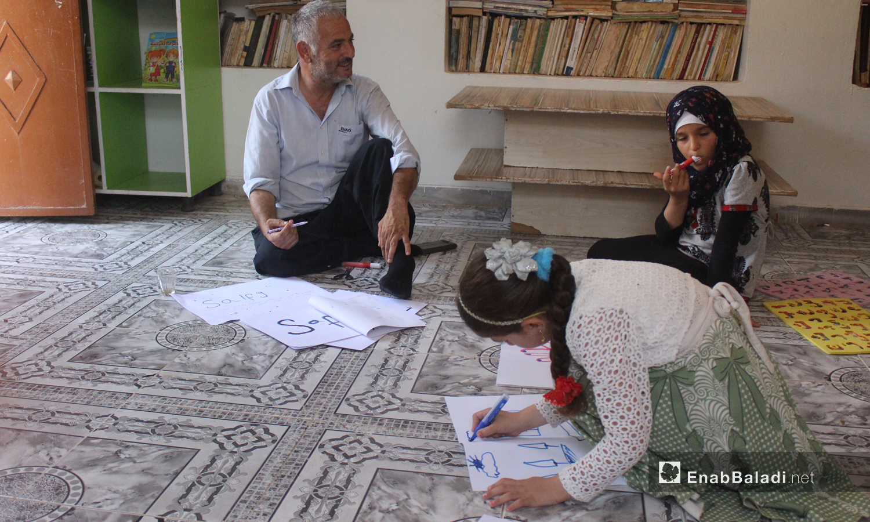 A center for sign language teaching in Kafr Nuran village in Aleppo - 04 September 2020 (Enab Baladi)