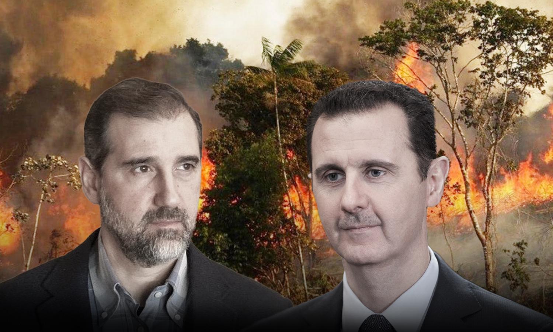 The head of the Syrian regime Bashar al-Assad and Syrian businessman Rami Makhlouf (edited by Enab Baladi)