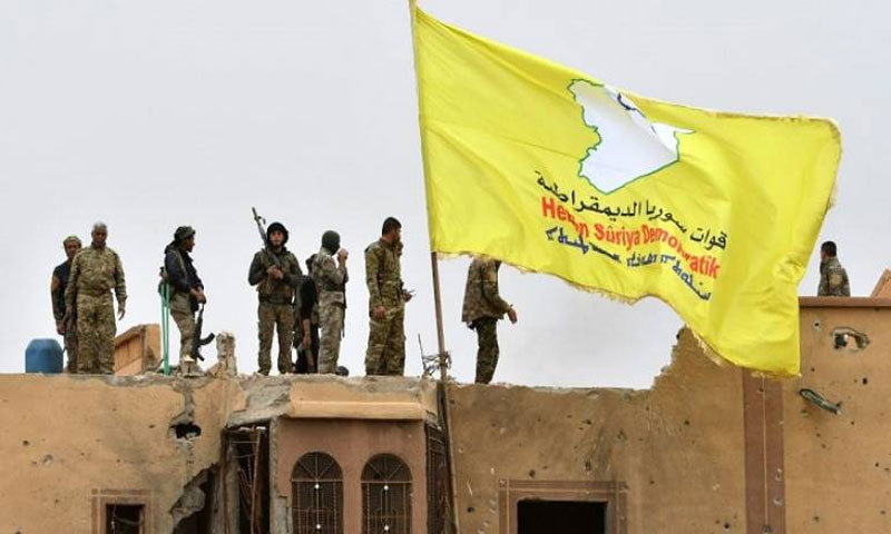 SDF members in Deir Ez-Zor countryside (Getty images)