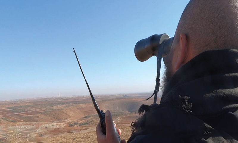 A man working as an observer to alert civilians of potential airstrikes - 2016 (SMART)