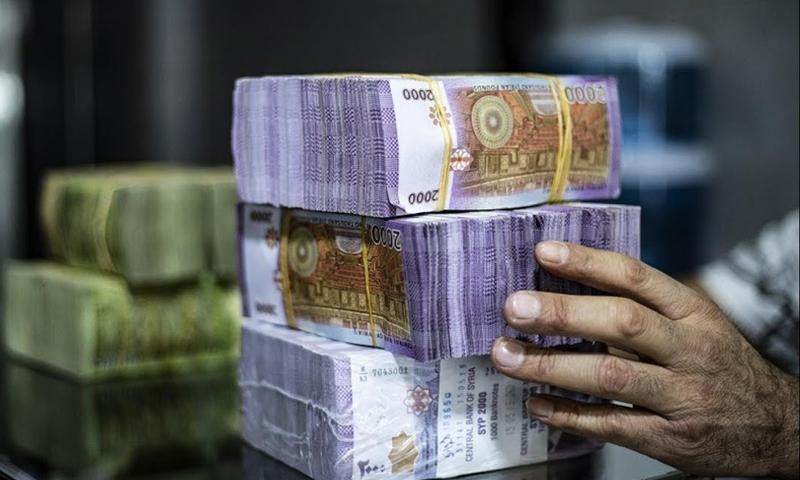 Syrian pound banknotes (expressive photo)