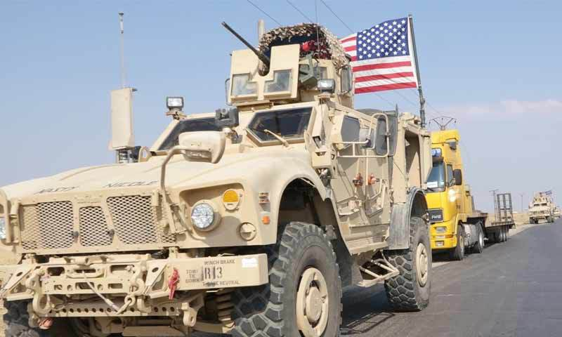 American vehicle in Al-Hasakah countryside (Russia Today reporter)