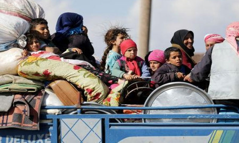 Internally displaced people (IDPs) in Syria - 12 March 2018 (Reuters)