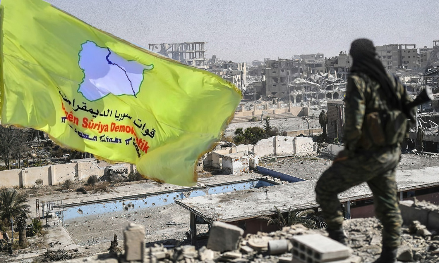 """The """"Syrian Democratic Forces (SDF)"""" appropriation of civilians' houses in al-Tabqa, 2020, (edited by Enab Baladi)"""