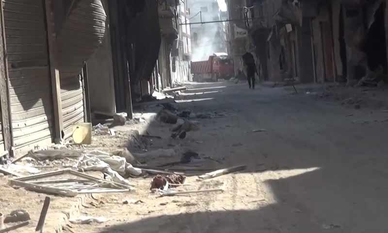 The Yarmouk camp near Damascus - 10 August 2018 (SANA)
