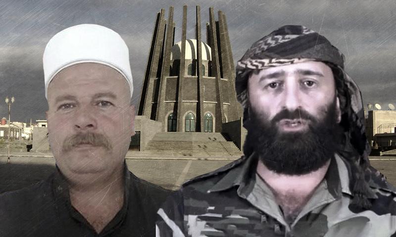 "The ""8th Brigade"" commander Ahmed al-Awda and Yahya Hajjar, the leader of the ""Men of Dignity"" Movement (edited by Enab Baladi)"