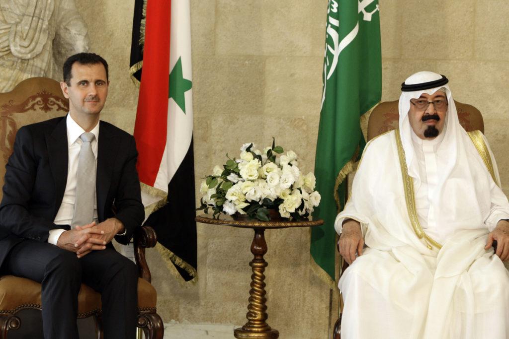 Bashar al-Assad and the former Saudi King Abdullah bin Abdul-Aziz 2010 (Associated Press)