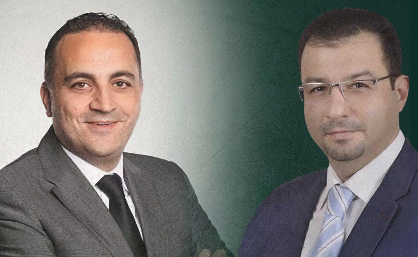 Businessmen Mohammed Fadel Katerji and Wasim Anwar al-Qattan ( Edited by Enab Baladi)