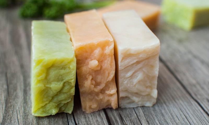 Home-made soap (healthline)
