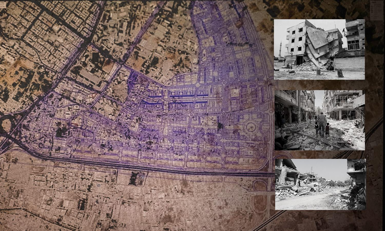 The regulatory plan of al-Qaboun neighborhood in Damascus - edited by Enab Baladi, 2020