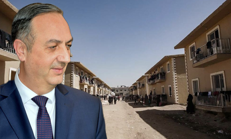 Al-Harjalah housing center and Rif Dimashq governor Alaa Ibrahim (edited by Enab Baladi)
