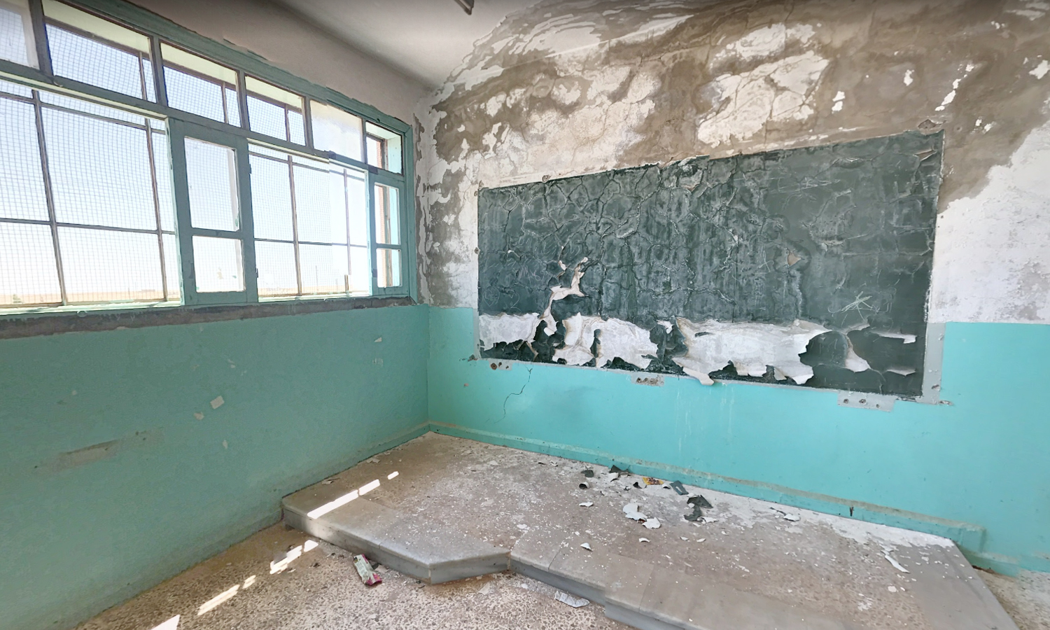 A destroyed school in Raqqa - June 2019 (Google maps / Better Hope)